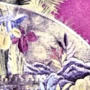 Japanese Iris - Kimono Series Art Print