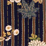 Japanese Maple And Chrysanthemum Modern Interior Art Painting. Art Print