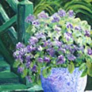 Japanese Pot At Monets Home Art Print