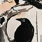 Japanese Print: Crow Art Print