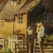 Japanese Tourist In England Art Print