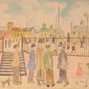 Japanese Whispers In Respect Of Lowry Art Print