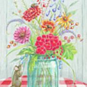 Jar Of Flowers Art Print