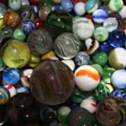 Jar Of Marbles Art Print