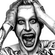 Jared Leto As The Joker Art Print