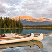 Jasper Lake Canoes Art Print