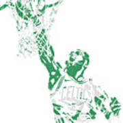 Jaylen Brown Boston Celtics Pixel Art 12 Art Print