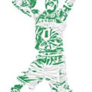 Jayson Tatum Boston Celtics Pixel Art 11 Art Print