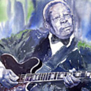 Jazz B B King 01 Art Print