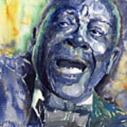Jazz B.b.king 04 Blue Art Print