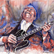 Jazz B B King 05 Red A Art Print