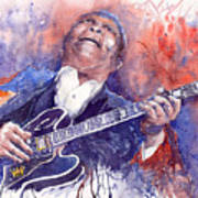 Jazz B B King 05 Red Art Print