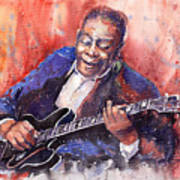 Jazz B B King 06 A Art Print