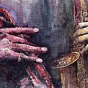 Jazz Batle Of Improvisation Print by Yuriy  Shevchuk