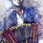 Jazz Concertina player Art Print