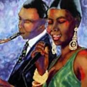 Jazz Duet Art Print