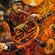Jazz Gold Jazz Art Print