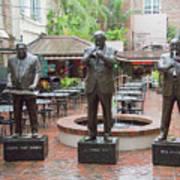 Jazz Greats Al Hirt Fats Domino Pete Fountain Stature New Orleans  Art Print