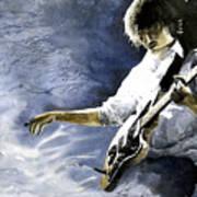 Jazz Guitarist Last Accord Art Print