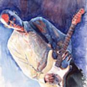 Jazz Guitarist Rene Trossman Art Print