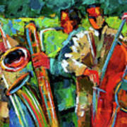 Jazz In The Garden Art Print