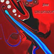 Jazz Kool Kat Kick It Art Print
