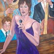 Jazz Lady Art Print