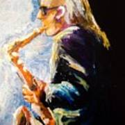 Jazz Man Art Print by Karen  Ferrand Carroll