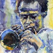 Jazz Miles Davis 12 Art Print by Yuriy  Shevchuk