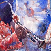 Jazz Miles Davis 15 Print by Yuriy  Shevchuk