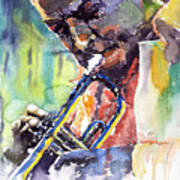 Jazz Miles Davis 9 Blue Art Print