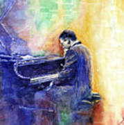 Jazz Pianist Herbie Hancock  Art Print