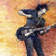 Jazz Rock Guitarist Stone Temple Pilots Art Print by Yuriy  Shevchuk
