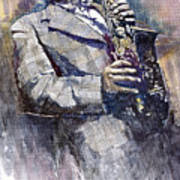 Jazz Saxophonist Charlie Parker Art Print