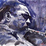 Jazz Saxophonist John Coltrane 01 Art Print
