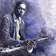 Jazz Saxophonist John Coltrane 03 Art Print by Yuriy  Shevchuk
