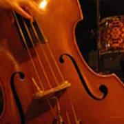 Jazz Upright Bass Art Print