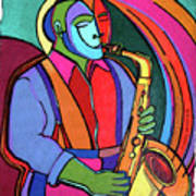 Jazzin #3 Art Print