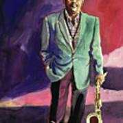 Jazzman Ben Webster Art Print by David Lloyd Glover