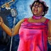 Jazzy Lady Art Print