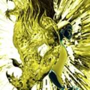 Jd And Leo- Inverted Gold Art Print