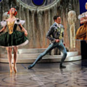 Jealous Stepsister Ballerinas En Pointe With Guests At The Ball  Art Print