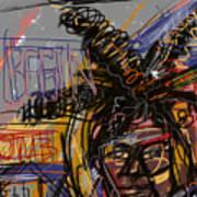 Jean Michel Basquiat Art Print by Russell Pierce