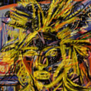 Jean Michel Art Print by Russell Pierce