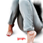 Jeans And Toes Art Print