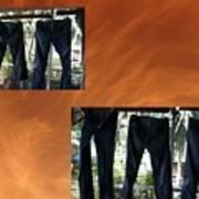 Jeans R Flying Art Print