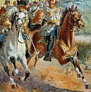 Jeb Stuarts Cavalry 1862 Art Print