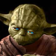Jedi Yoda Art Print