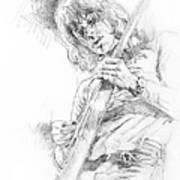 Jeff Beck - Truth Art Print by David Lloyd Glover