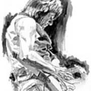 Jeff Beck In Concert Art Print by David Lloyd Glover